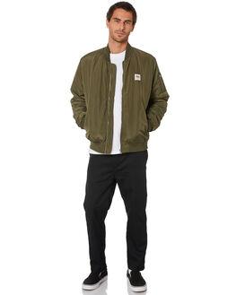 FLIGHT GREEN MENS CLOTHING STUSSY JACKETS - ST006504FLTGR