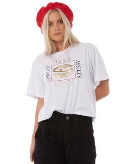 WHITE WOMENS CLOTHING STUSSY TEES - ST185000WHT