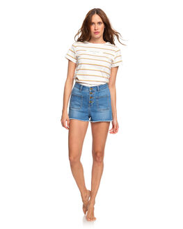 MEDIUM BLUE WOMENS CLOTHING ROXY SHORTS - ERJDS03202-BMTW