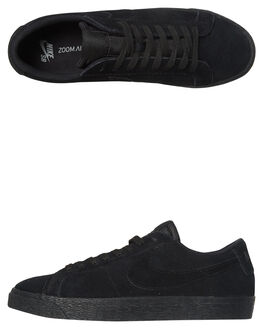 BLACK BLACK MENS FOOTWEAR NIKE SKATE SHOES - 864347-004