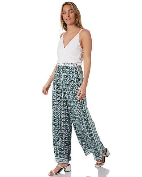 GREEN WOMENS CLOTHING TIGERLILY PANTS - T305378GRN