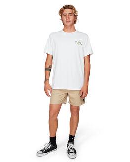 WHITE MENS CLOTHING RVCA TEES - RV-R192055-WHT