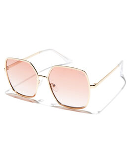GOLD PEACH WOMENS ACCESSORIES QUAY EYEWEAR SUNGLASSES - QW-000390GLDPE