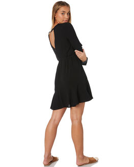 BLACK WOMENS CLOTHING RUSTY DRESSES - DRL0968BLK