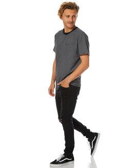 BLACK NATURAL MENS CLOTHING AFENDS TEES - 01-11-016BLKN