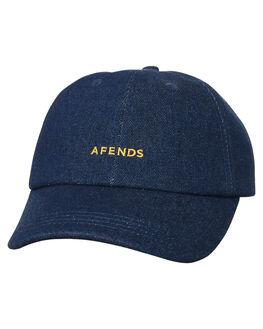 BLEACHED BLUE MENS ACCESSORIES AFENDS HEADWEAR - A181603BBLU