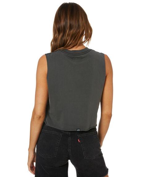 MERCH BLACK WOMENS CLOTHING THRILLS SINGLETS - WSMU20-177BMMBLK