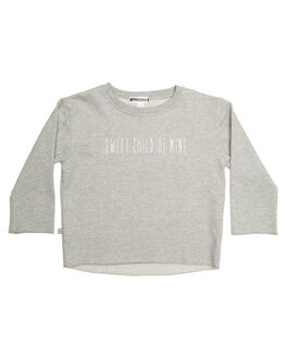 GREY MARLE KIDS TODDLER GIRLS SWEET CHILD OF MINE JUMPERS - SWEETCHILDSHRTGRY