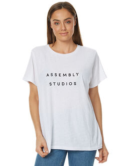 WHITE WOMENS CLOTHING ASSEMBLY TEES - AW-W217103WHT