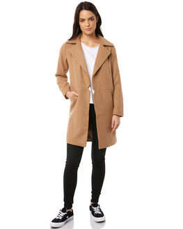 TAN WOMENS CLOTHING ALL ABOUT EVE JACKETS - 6413068TAN