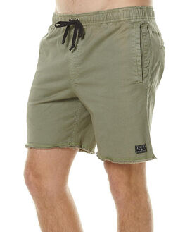 KHAKI MENS CLOTHING AFENDS SHORTS - 09-06-018KHA