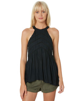 BLACK WOMENS CLOTHING VOLCOM FASHION TOPS - B0531904BLK