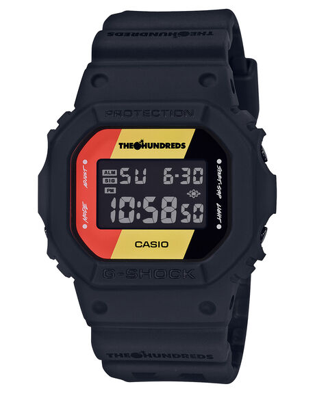 BLACK MENS ACCESSORIES G SHOCK WATCHES - DW5600HDR-1DBLK