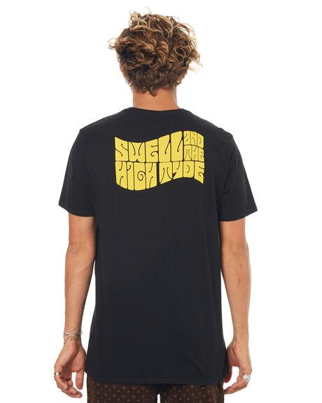 BLACK MENS CLOTHING SWELL TEES - S5171020BLACK