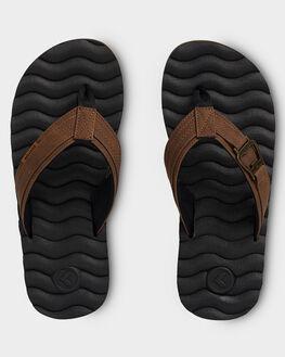 BROWN MENS FOOTWEAR KUSTOM THONGS - KS-4992206-BRN