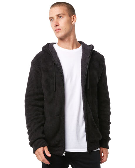 BLACK MENS CLOTHING QUIKSILVER KNITS + CARDIGANS - EQYSW03182KVJ0