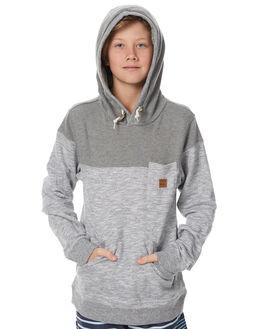 LIGHT GREY HEATER KIDS BOYS BILLABONG JUMPERS - 8575610LGH