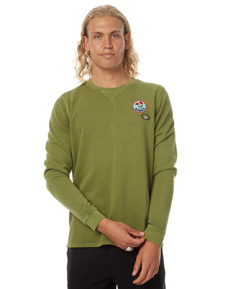 LODEN GREEN MENS CLOTHING BANKS JUMPERS - WFL0092LGR