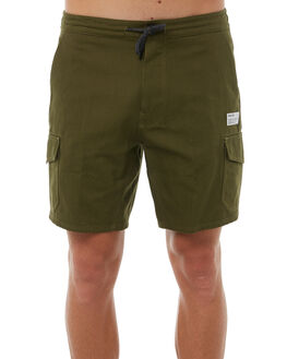 OLIVE CANVAS MENS CLOTHING HURLEY SHORTS - AJ2627395