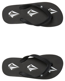STONEY BLACK KIDS BOYS VOLCOM THONGS - X0811800STY