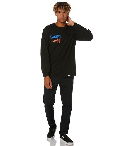 BLACK MENS CLOTHING MONSTER CHILDREN TEES - CULTMCBLK
