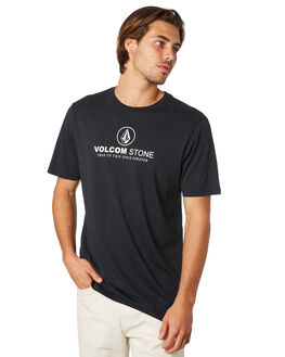 BLACK MENS CLOTHING VOLCOM TEES - A5011972BLK