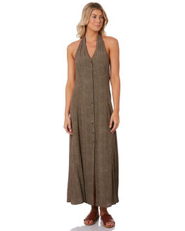 BROWN WOMENS CLOTHING ROLLAS DRESSES - 13042120
