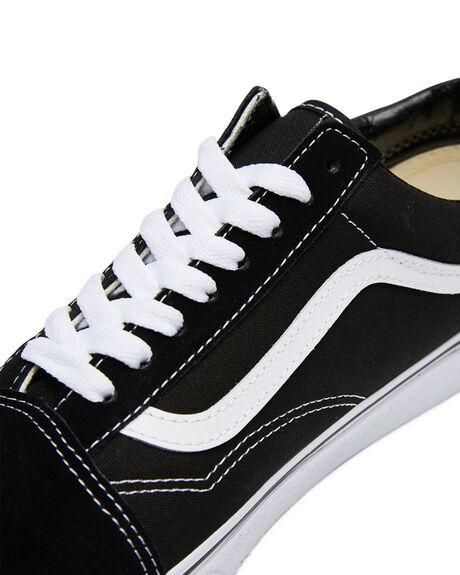 BLK WHITE WOMENS FOOTWEAR VANS SNEAKERS - SSVN-0D3HY28BLKW