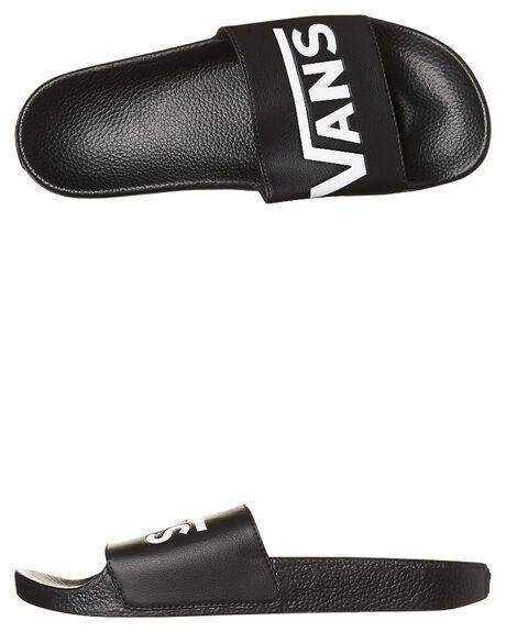 BLACK MENS FOOTWEAR VANS SLIDES - VN-04KIIX6BLK