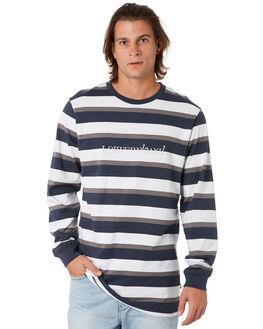 NAVY GREY WHITE MENS CLOTHING LOWER TEES - LO19Q3MLS07NGW