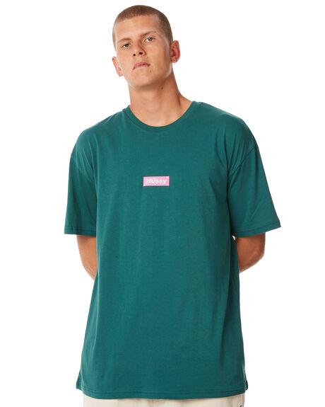 DARK TEAL MENS CLOTHING STUSSY TEES - ST073015DTEAL