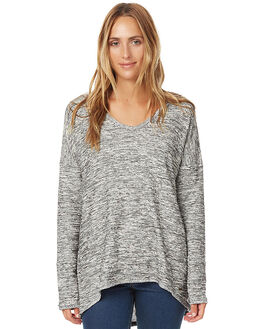 GREY BLACK WOMENS CLOTHING O'NEILL JUMPERS - 3721501GRY