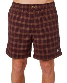 BURGUNDY MENS CLOTHING STUSSY SHORTS - ST083608BGNDY