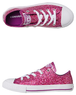 ICON VIOLET KIDS GIRLS CONVERSE SNEAKERS - 662344CVIO