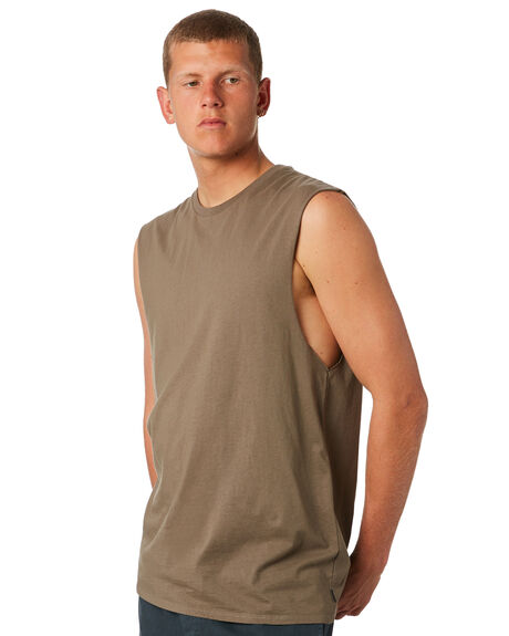 OLIVE MENS CLOTHING SWELL SINGLETS - S5164272OLIVE