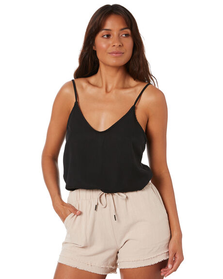 BLACK WOMENS CLOTHING RUSTY FASHION TOPS - WSL0627BLK