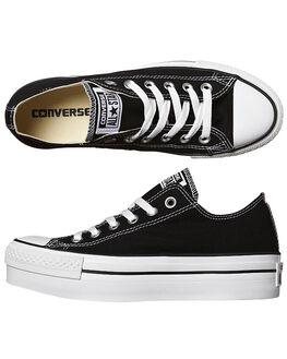 JET BLACK WOMENS FOOTWEAR CONVERSE SNEAKERS - 540266JBLK