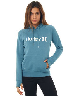 HEATHER NOISE AQUA WOMENS CLOTHING HURLEY JUMPERS - AGFL170H4NH