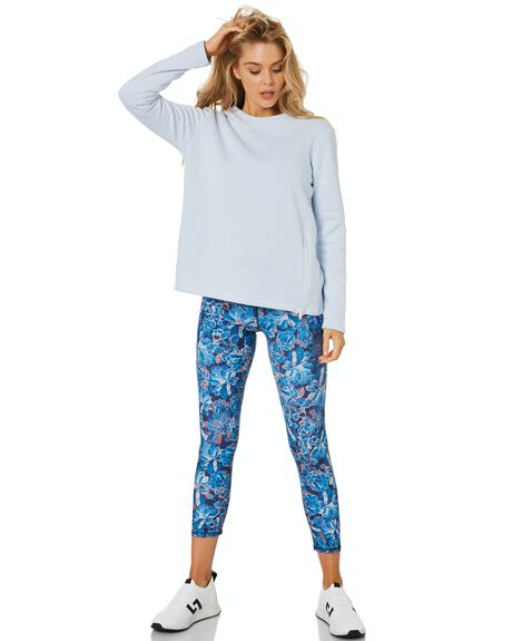 ICE BLUE WOMENS CLOTHING DK ACTIVE ACTIVEWEAR - DK05-015-ICEBLU-XS