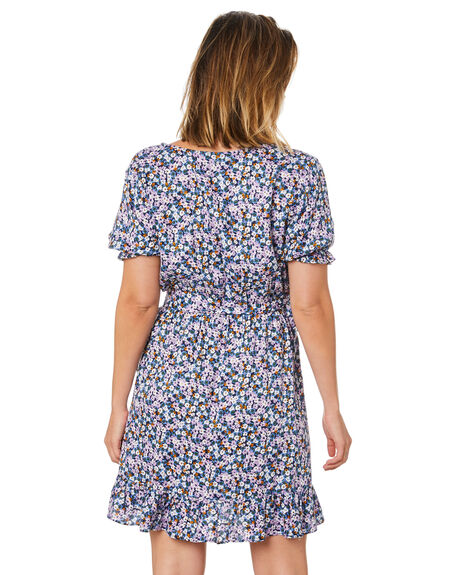 BLACK FLORAL PRINT WOMENS CLOTHING SWELL DRESSES - S8211451BKFPT