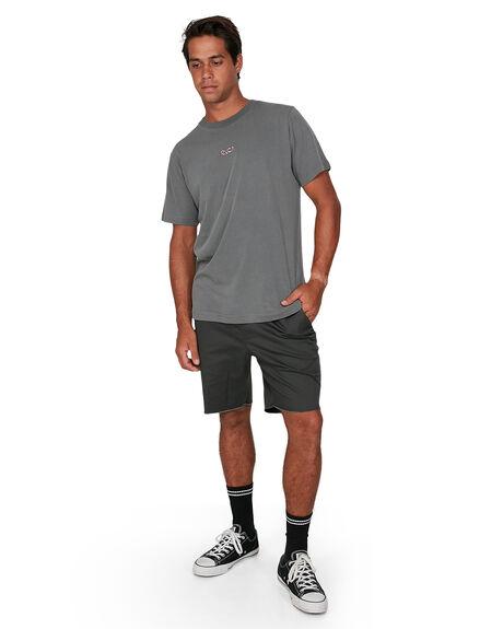 SMOKE MENS CLOTHING RVCA TEES - RV-R106057-SMK