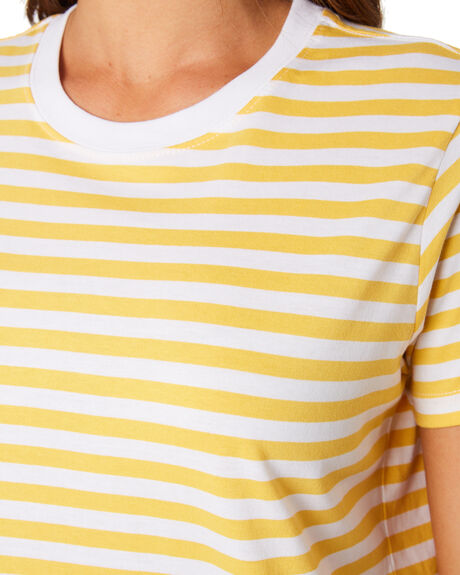 YELLOW AND WHITE WOMENS CLOTHING AS COLOUR TEES - 4037YELW