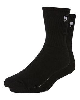 BLACK MENS CLOTHING AFENDS SOCKS + UNDERWEAR - A183695BLK