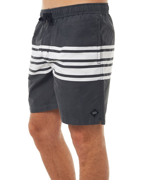 BLACK MENS CLOTHING SWELL BOARDSHORTS - S5171238BLK
