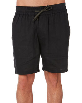 BLACK MENS CLOTHING RPM SHORTS - 9SMB06ABLK