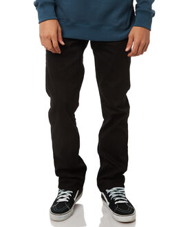 BLACK ON BLACK MENS CLOTHING VOLCOM JEANS - A1931503BKB
