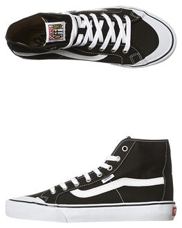 BLACK WHITE MENS FOOTWEAR VANS SNEAKERS - VN-019A6BTBKW