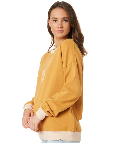 HONEY GOLD WOMENS CLOTHING BILLABONG JUMPERS - 6595748HOG