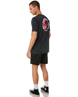 BLACK ACID MENS CLOTHING TOWN AND COUNTRY TEES - TTE410ABLKAC