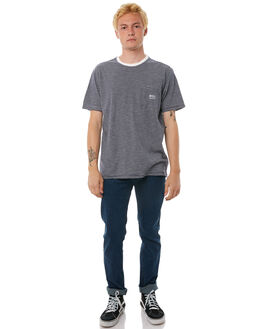 CLASSIC INDIGO MENS CLOTHING RVCA TEES - R383051CIND